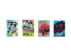 Тетрадка A5 тв.корица Mickey/Spider-Man, 80 л.ред, 80 г/м2