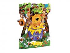 Картичка Bear & Honey Pot, Swing Cards